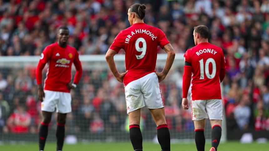 Zlatan Ibrahimovic, Wayne Rooney y Paul Pogba