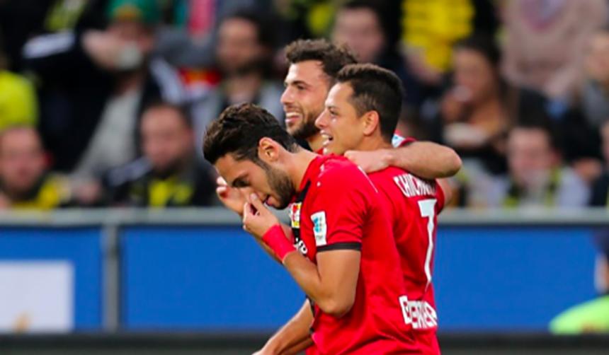 Checa el gol de 'Chicharito' Hernández contra el Borussia Dortmund