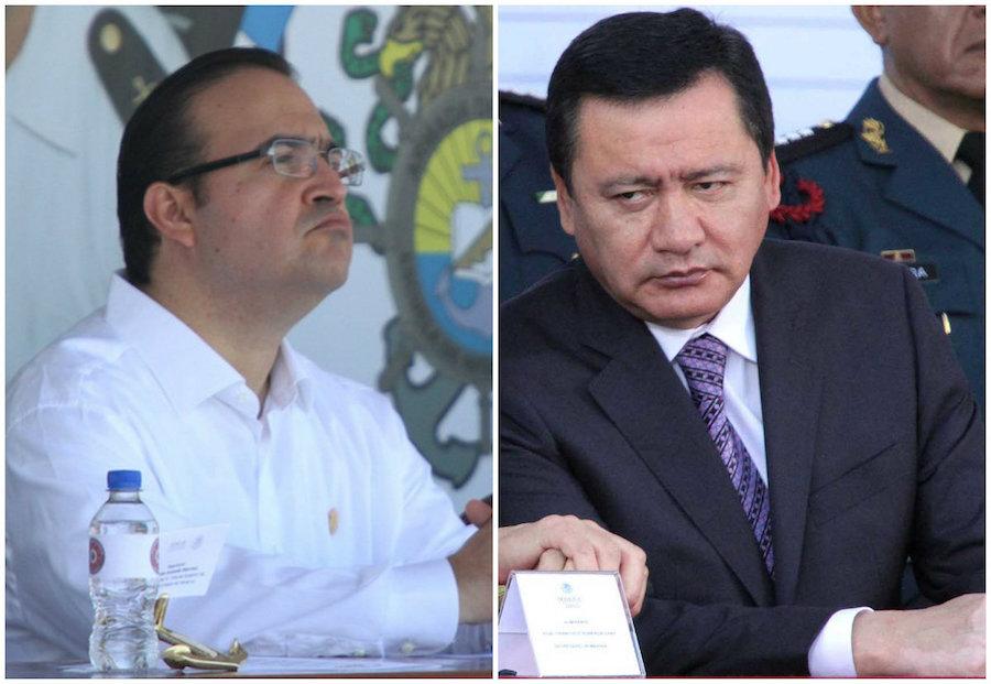 El titular de la Secretaría de Gobernación, Miguel Ángel Osorio Chong, asegura que no hizo algún pacto con Duarte y que el Gobernador con licencia de Veracruz sigue en México