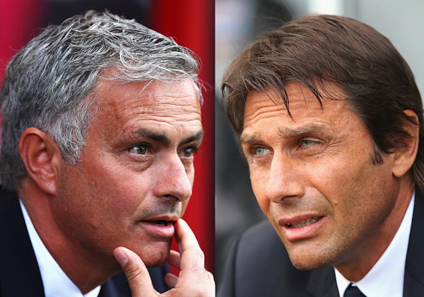 José Mourinho y Antonio Conte
