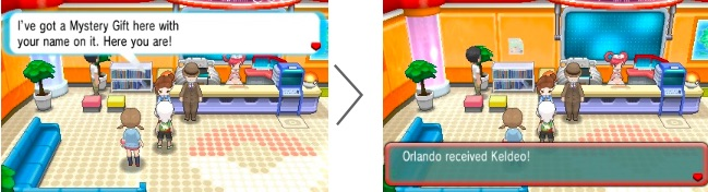 Keldeo Pokémon Center