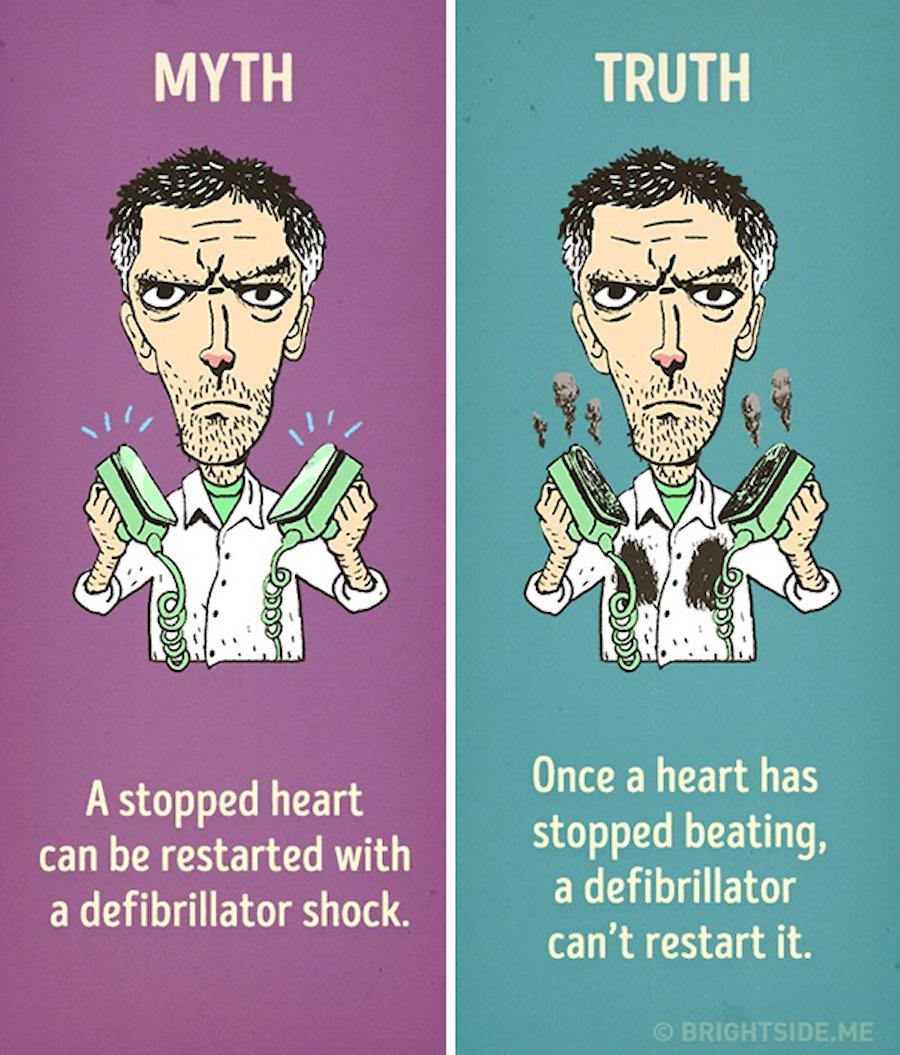Mitos del cine - Desfibrilador