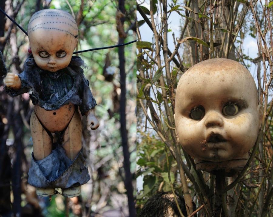 Muñecas colgadas