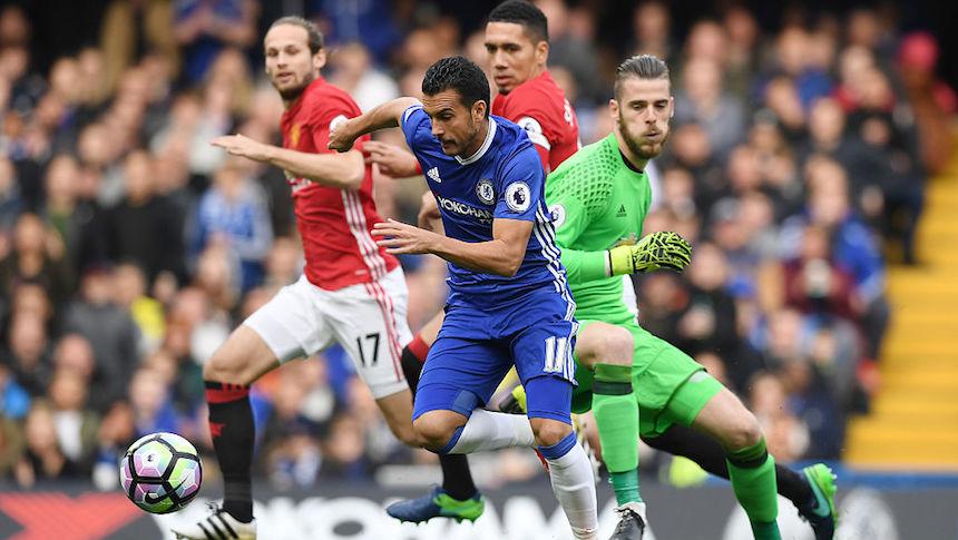 Pedro burló a De Gea para marcar el primer gol