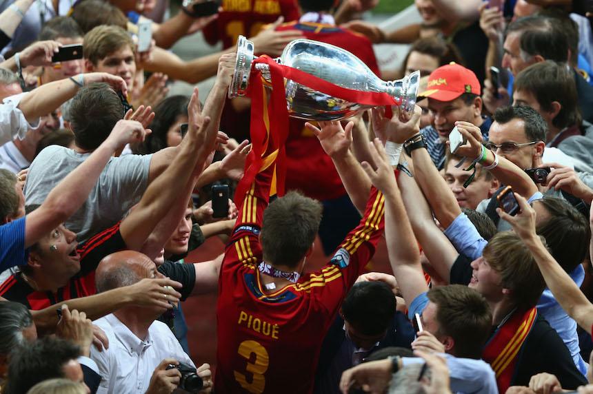Piqué ganó la Euro del 2012 y el mundial del 2010