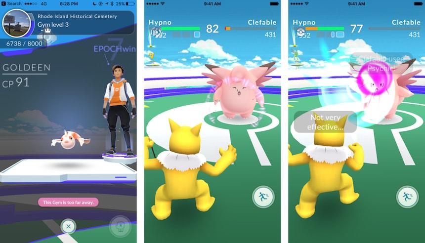 Pokémon Go Entrenamiento