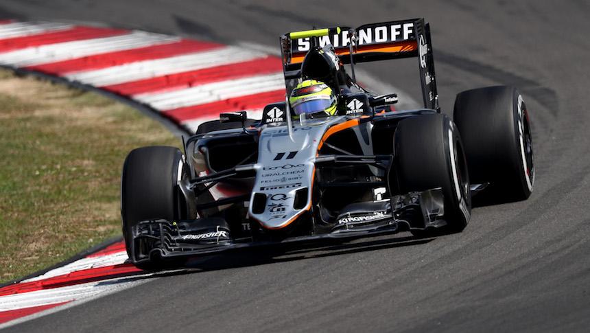 El piloto mexicano Sergio Perez finalizó en la sexta plaza