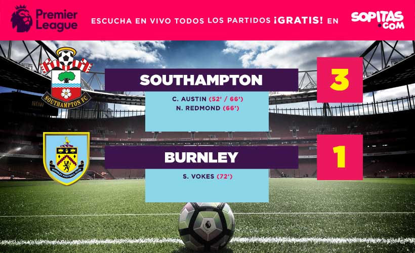 Southampton Burnley marcador
