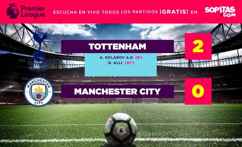 Tottenham terminó con el invicto del Manchester City