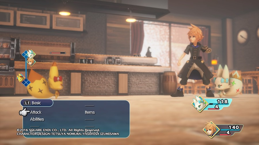 World of Final Fantasy Menú