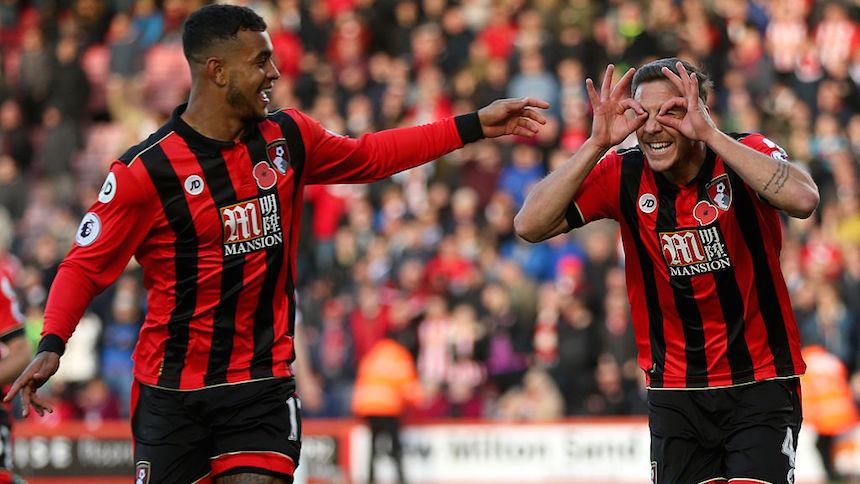 El bournemouth tomó la delantera contra el Sunderland