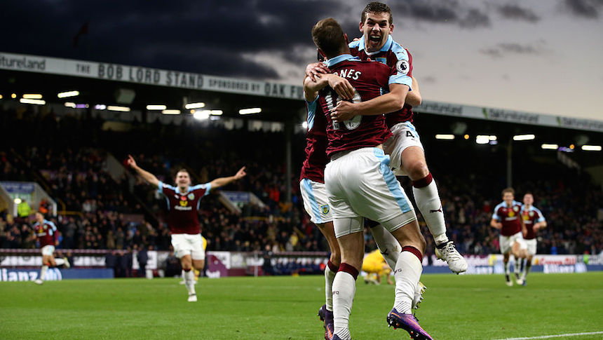 El Burnley ganó 3-2 contra el Crystal Palace