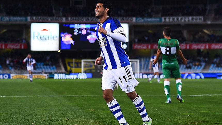 Carlos Vela vuelve a marcar con la Real Sociedad