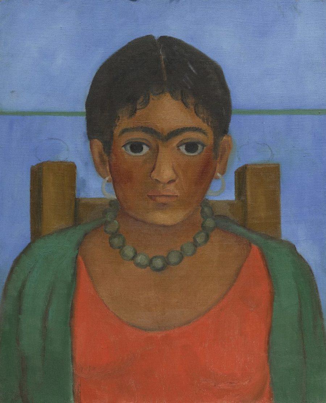 Niña con collar - Pintura de Frida Kahlo