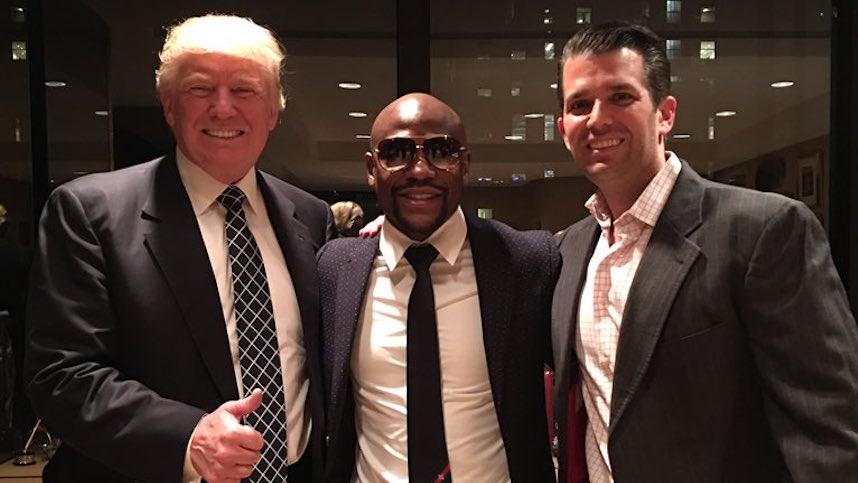 ¿De qué hablaron Donald Trump y Floyd Mayweather?