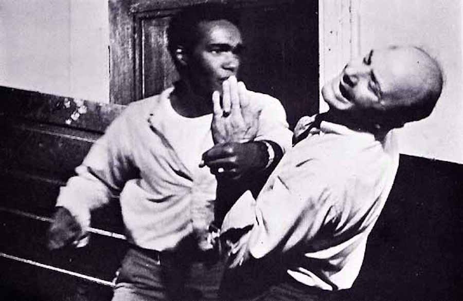 Duane Jones y Karl Hardman