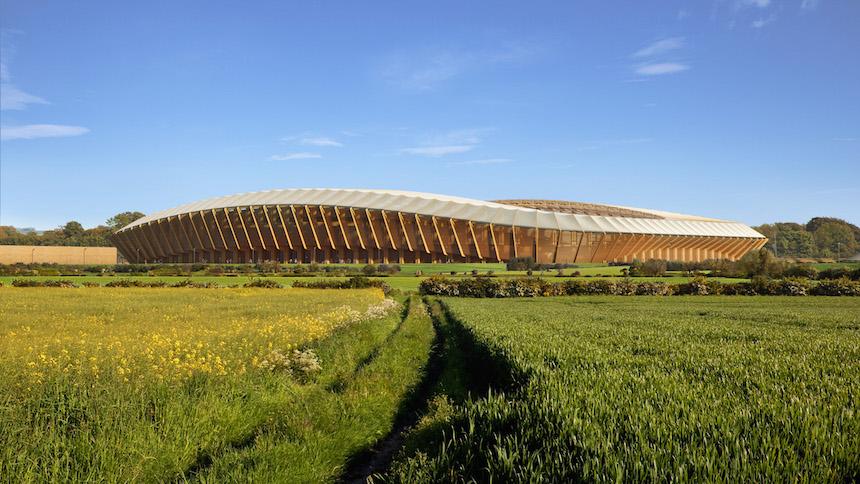 Equipo de Inglaterra tendrá el primer estadio hecho sólo de madera