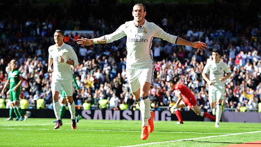 Con doblete de Gareth Bale el Real Madrid le ganó fácil al Leganés