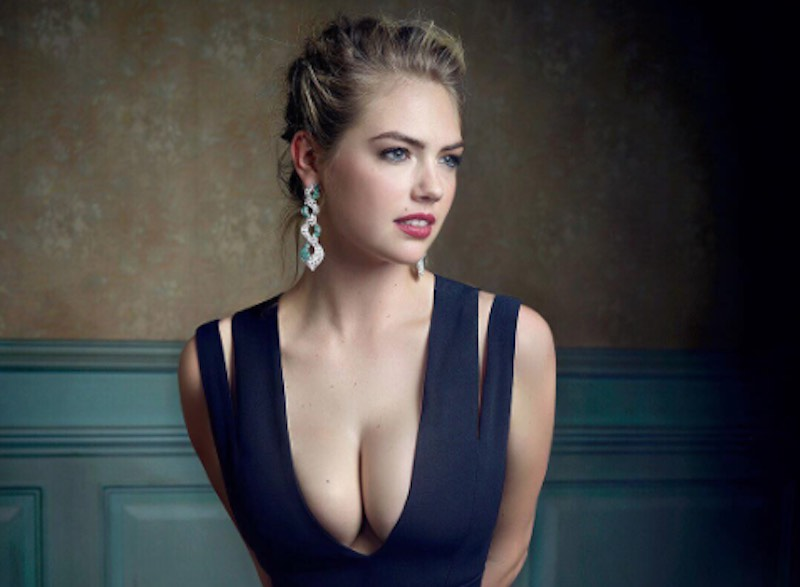 Kate Upton vestido azul