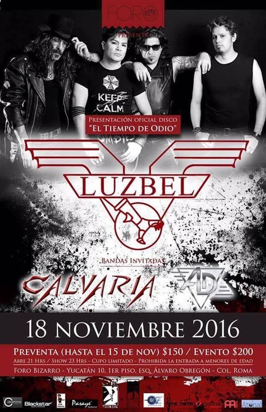 Luzbel presentará su nuevo álbum: El tiempo de odio