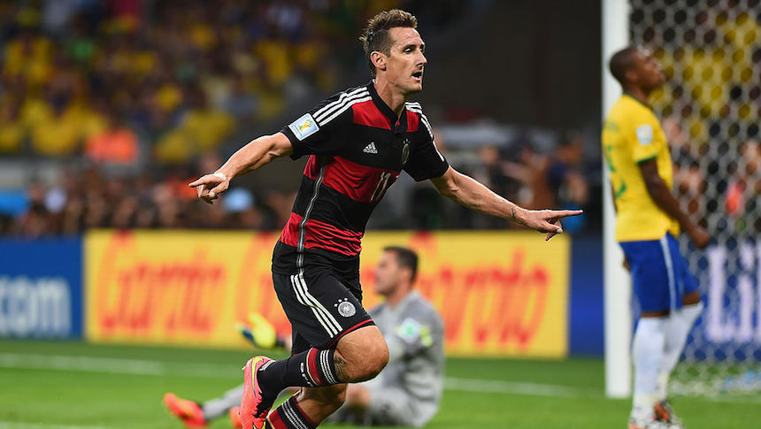 Miroslav Klose obtuvo 16 goles