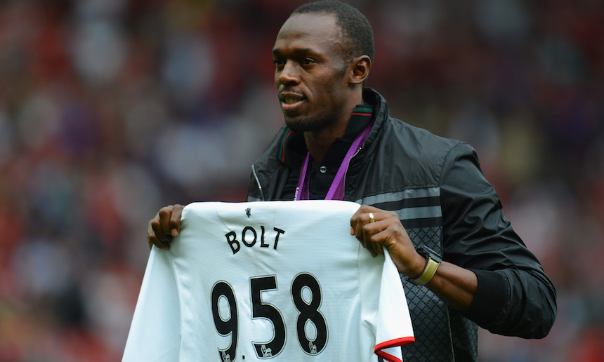 Usain Bolt sueña jugar con el Manchester United