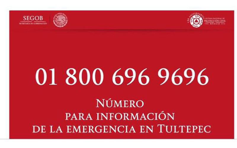 Telefonos emergencia Tultepec