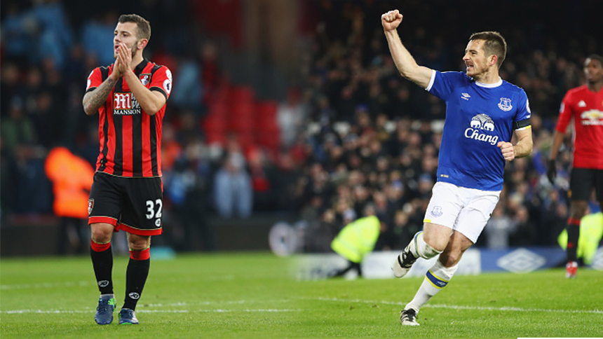 Bournemouth le remontó al Liverpool y Everton sacó un punto al Manchester United