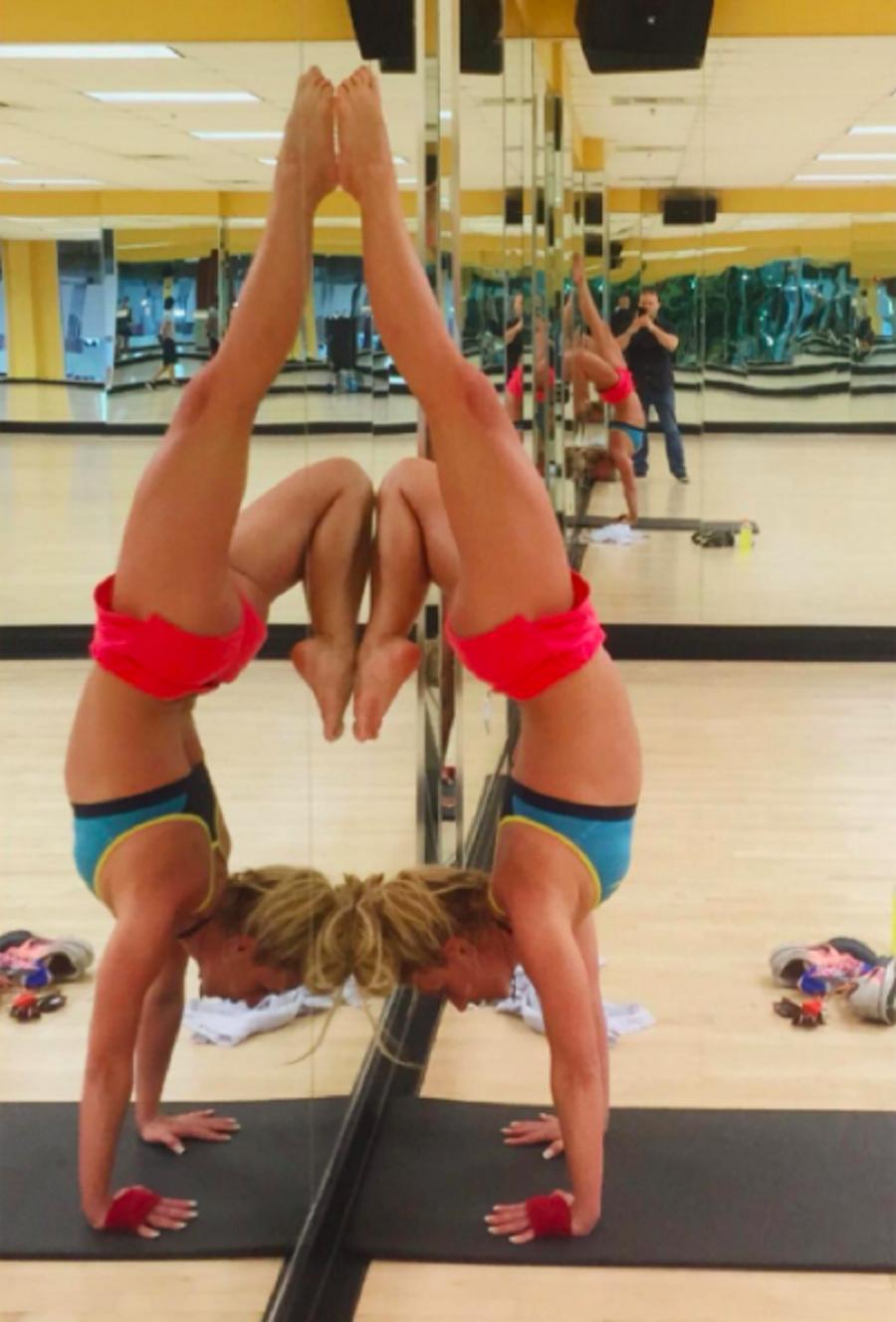 Britney Spears en el gym