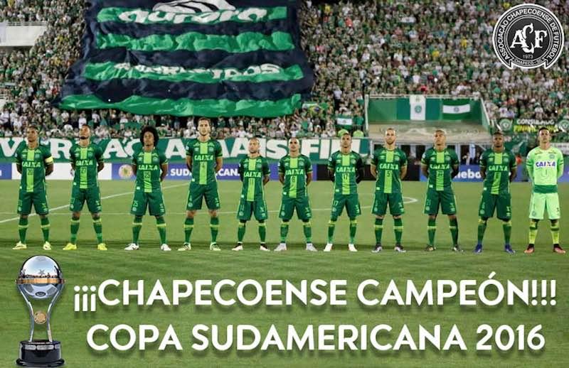 ¡Chapecoense es campeón de la Copa Sudamericana 2016!