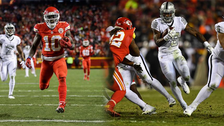 Estos son los juegos que le restan a los Chiefs y Raiders buscando la división