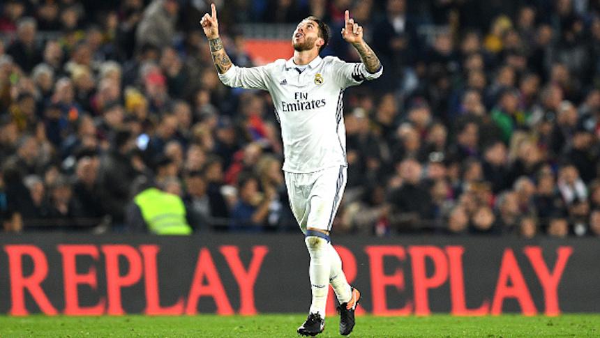 Sergio Ramos le sacó el empate al Barcelona en El Clásico
