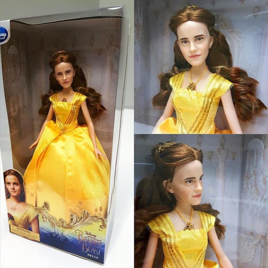 La horrible muñeca de Emma Watson como Belle