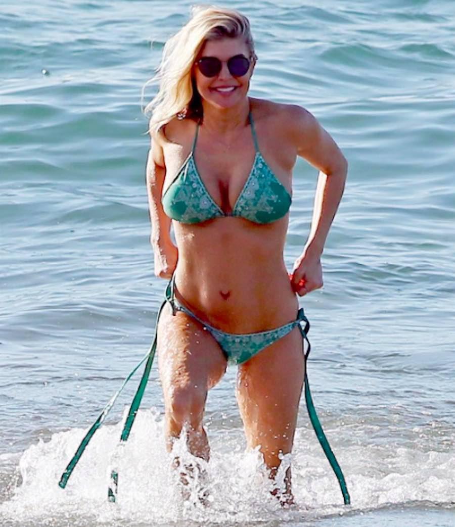 La figura de Fergie en bikini