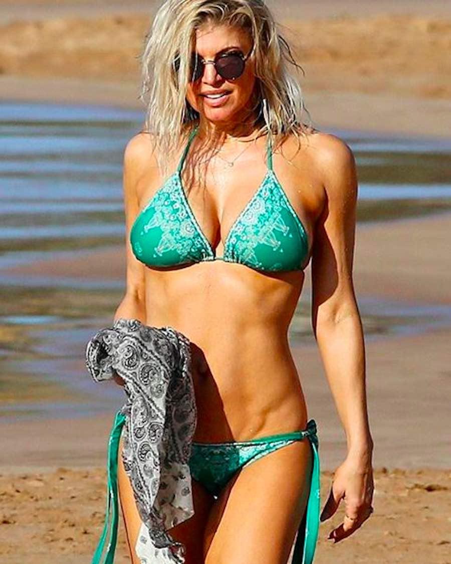 Fergie en bikini