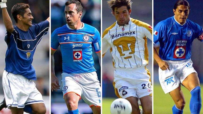 Los 5 futbolistas mexicanos que jugaron para Cruz Azul y Pumas