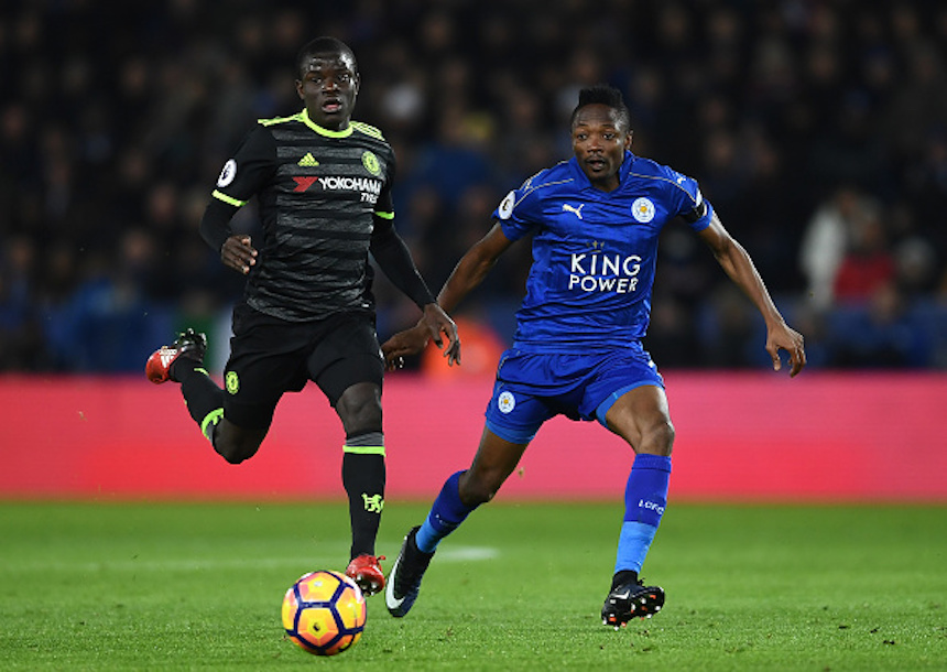 LEICESTER, ENGLAND - JANUARY 14: (L-R) N'Golo