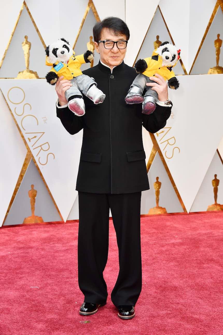 Jackie Chan en la alfombra roja