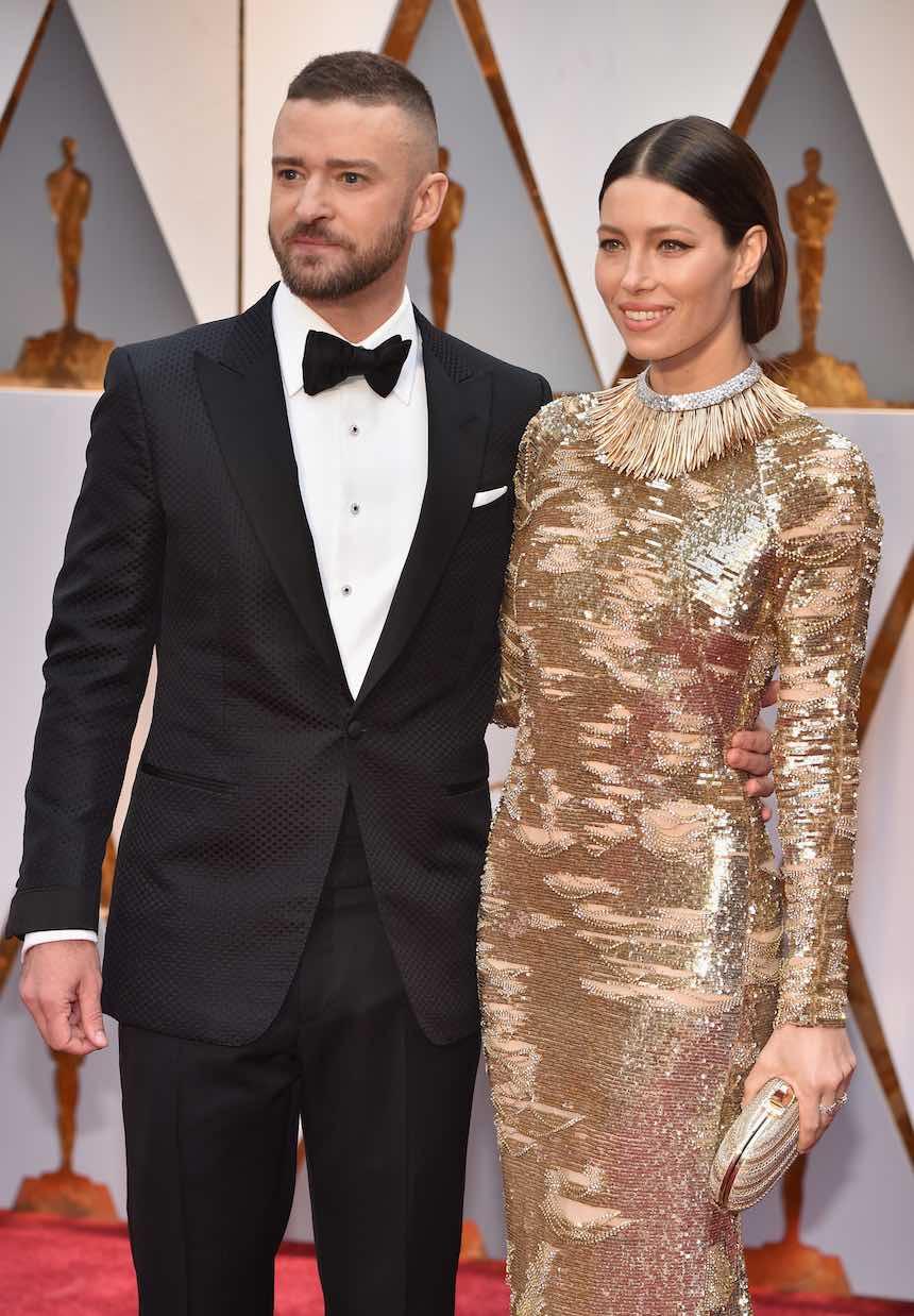 Justin Timberlake y Jessica Biel en la Alfombra Roja de los Premios Oscar