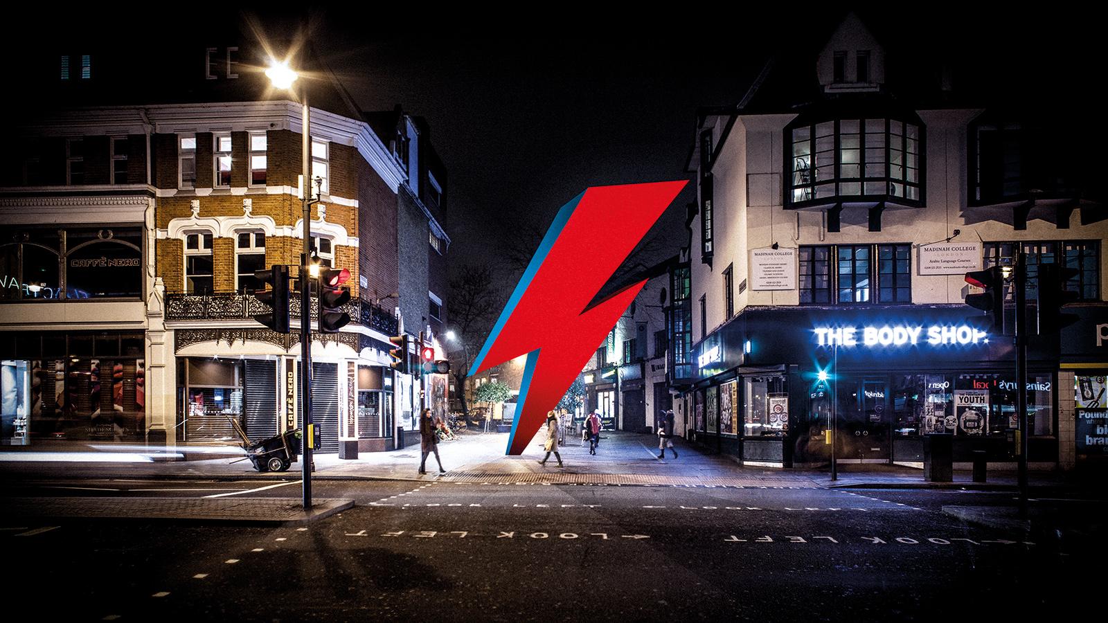 Ayuden a que David Bowie tenga esta GRAN escultura en forma de rayo