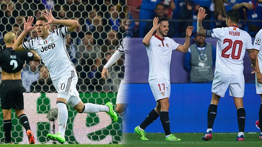 Juventus y Sevilla sacan ventaja en los Octavos de la Champions League