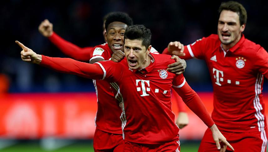 Checa los ocho goles con los que el Bayern aplastó al Hamburgo
