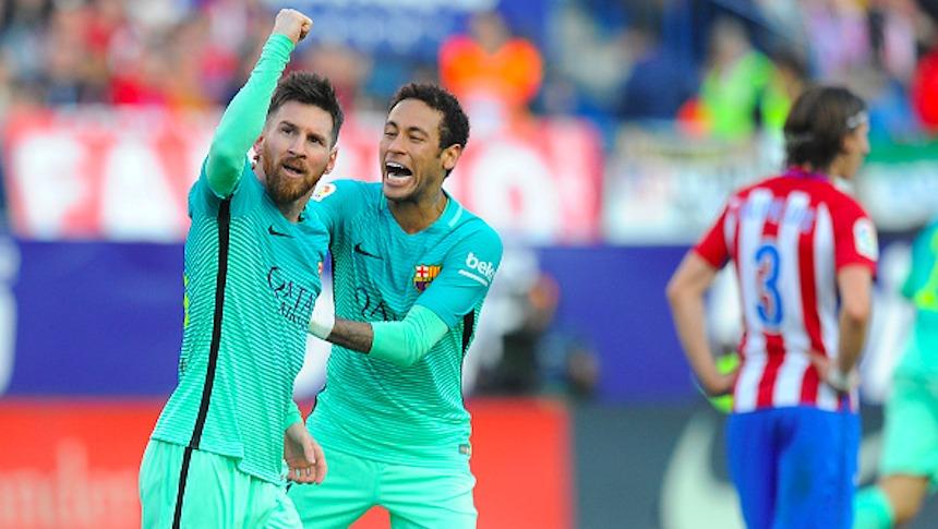 Lionel Messi le dio el triunfo al Barcelona ante el Atlético de Madrid