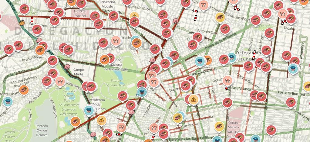 Mapa Waze Mexico