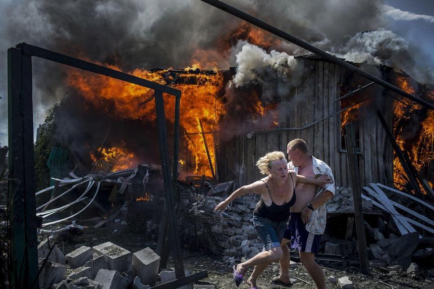 World Press Photo - Incendio en Ucrania