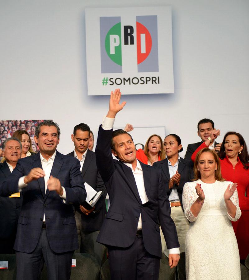 Enrique Peña Nieto en el aniversario del PRI