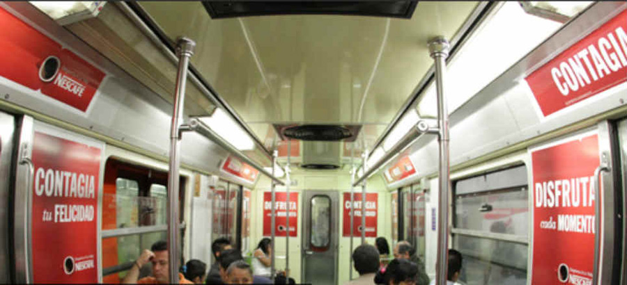 Anuncios Publicitarios en el Metro