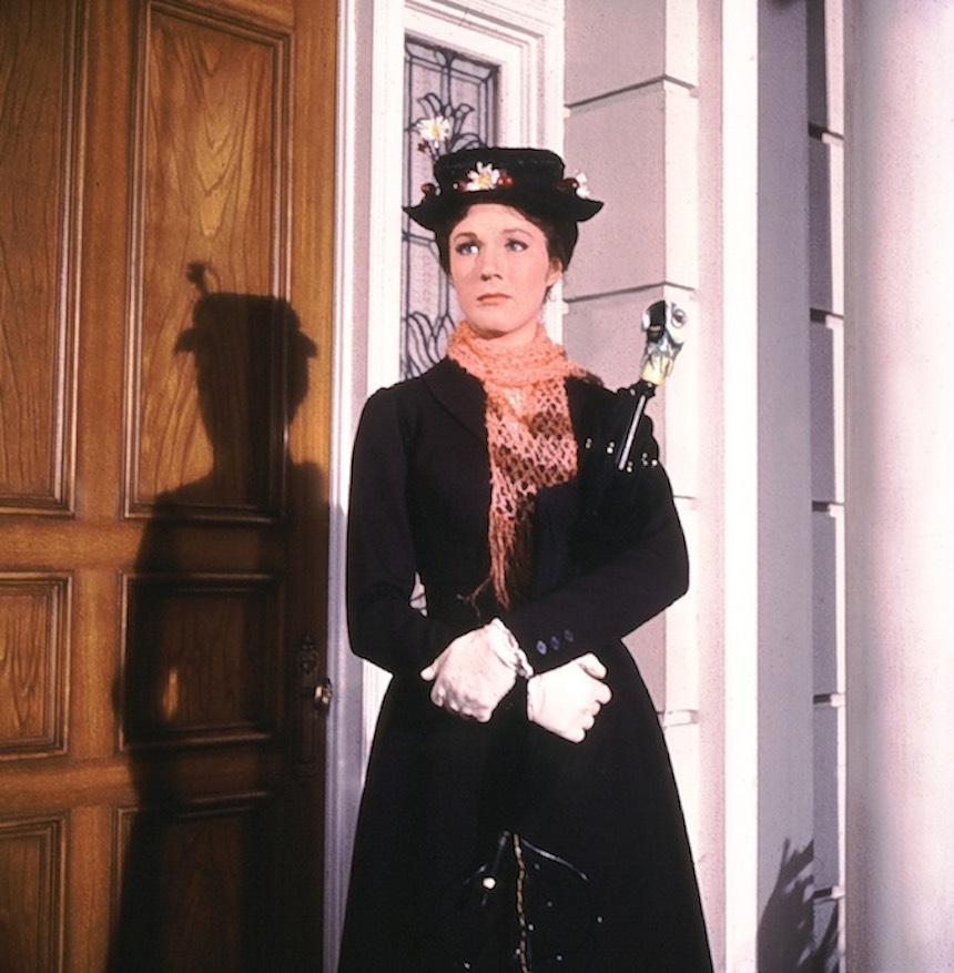 Julie Andrews como Mary Poppins
