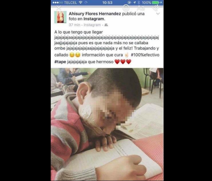 Alumno de Tamaulipas es amordazado por su maestra
