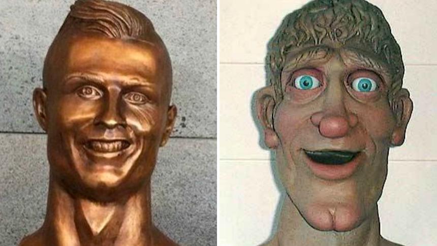 ¡Bendito internet! Los memes del busto de Cristiano Ronaldo